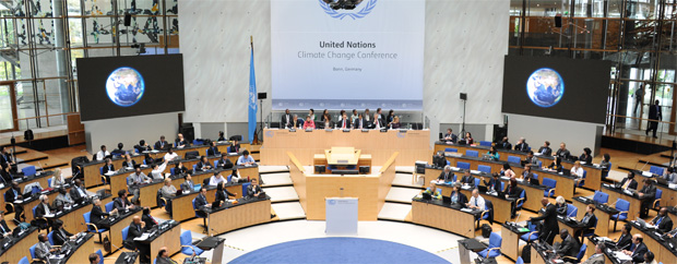 Plenarsaal von oben
