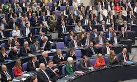Das Bild zeigt die Unionsfraktion im Bundestag.